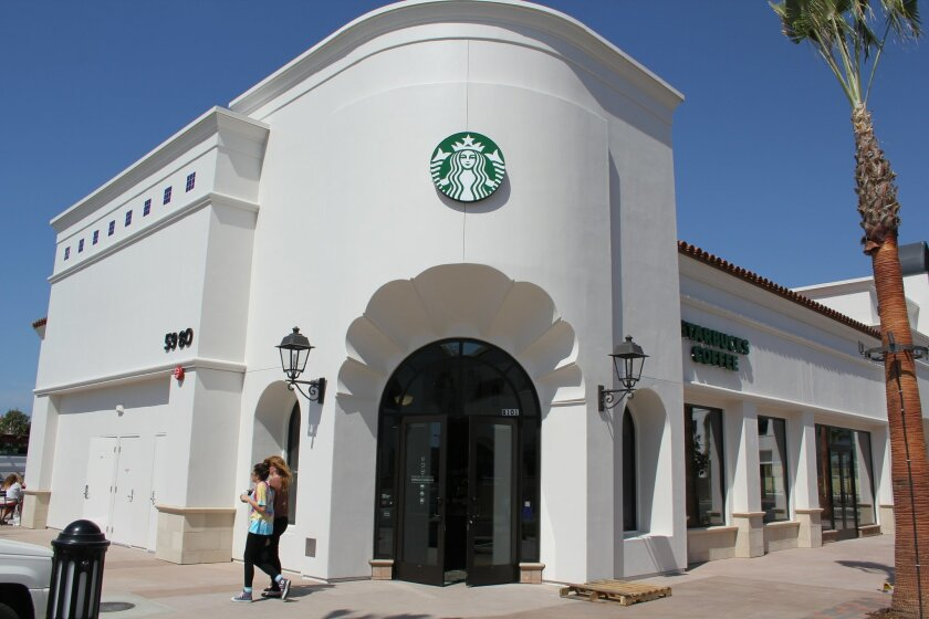 Starbucks became the first shop to open in the Village at Pacific Highlands Ranch.