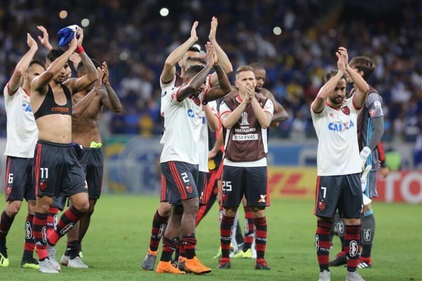 En la imagen, un registro de los jugadores de Flamengo. EFE/Archivo