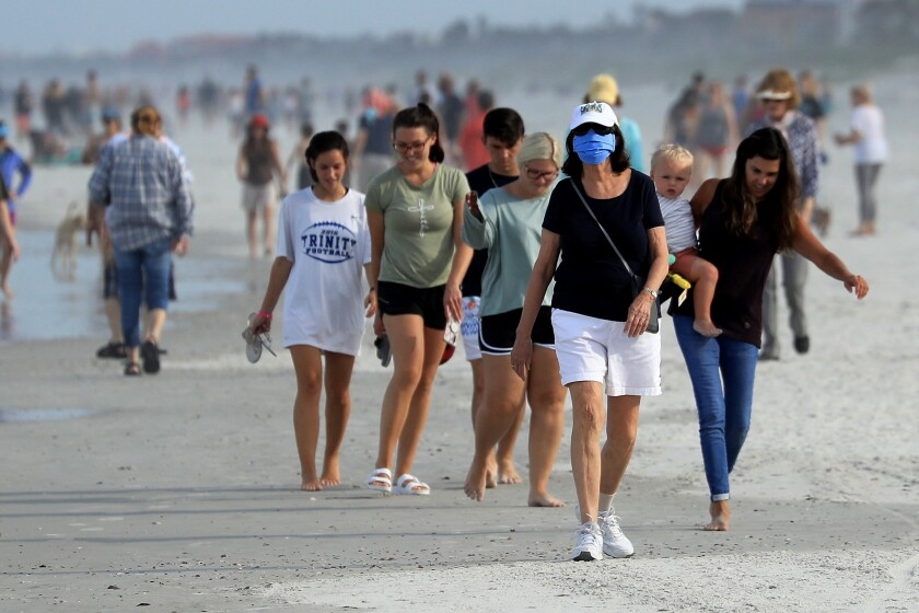 Jacksonville, Fla., reopens beaches after decrease in COVID-19 cases