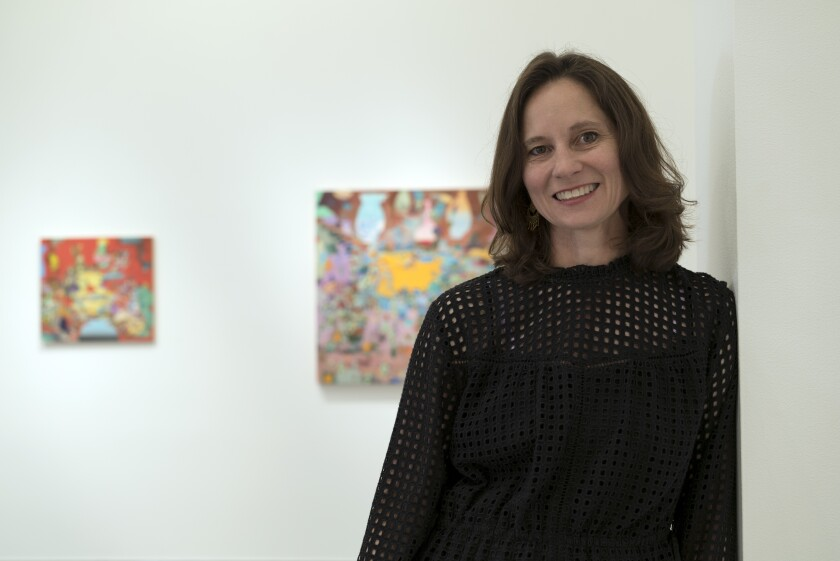 Artist Carolyn Case, artist in residence at Lux Art Institute