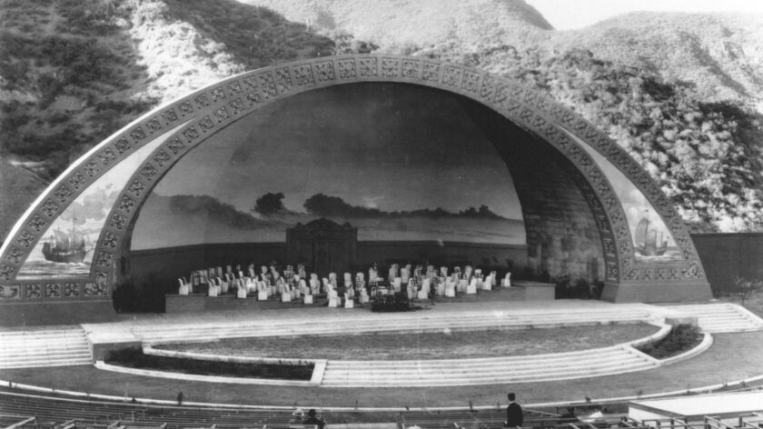 The Hollywood Bowl stage in 1926. (The Music Center Archives/Hollywood Bowl Collection/Fred Kuphal P