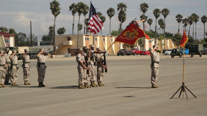 Sgt. Maj. Neil O'Connell retired as the top enlisted Marine for Camp Pendleton's Headquarters Group, 1st Marine Expeditionary Force, 34 years after he was sworn into the Corps.