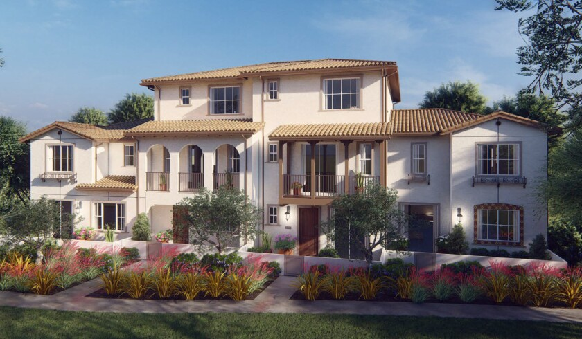 The new community of 245 homes in three unique neighborhoods will feature modern Spanish architectural design. Prices are expected to range from the high $300,000s to $500,000.