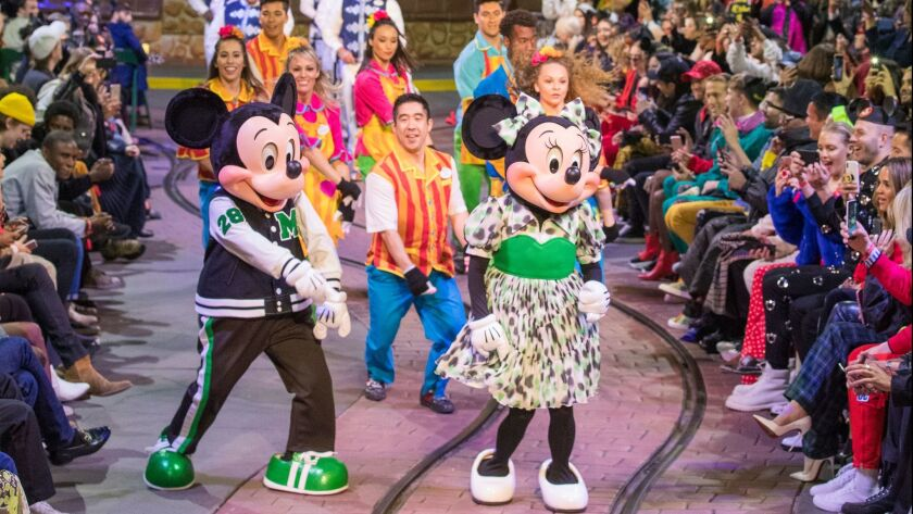 Opening Ceremony -- the global brand that has ties to SoCal -- holds its spring fashion show at Mickey's Toontown in Disneyland.
