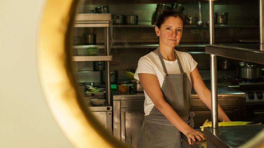MEXICO CITY, MEXICO-- MARCH 28, 2019: Chef Elena Reygadas inside of her restaurant Rosetta in Mexico