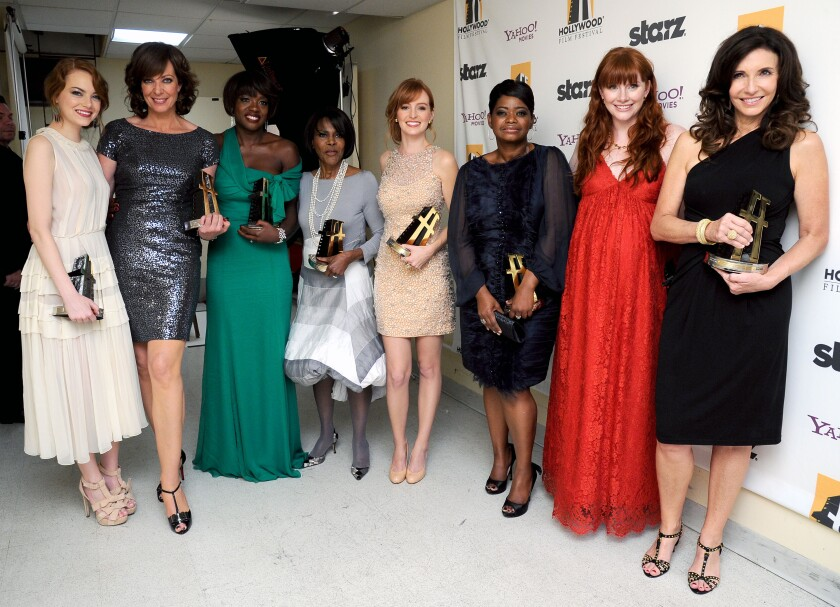 "The cast of ""The Help"" at the Hollywood Film Awards Gala in 2011."