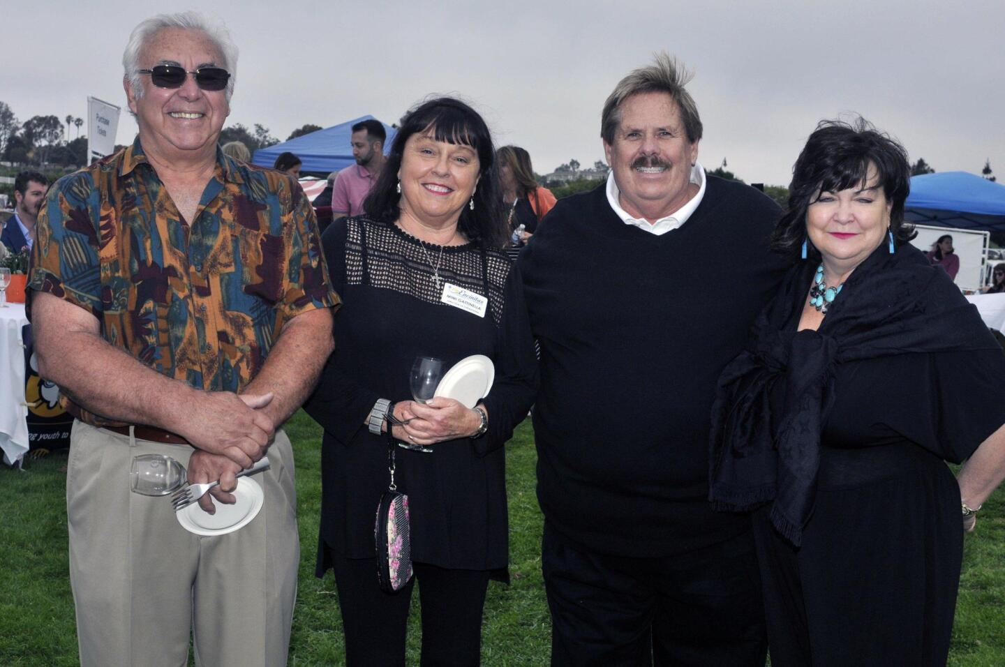 Encinitas Chamber of Commerce CEO Bob Gattinella, chamber administrator Mimi Gattinella, Encinitas council member Mark and Mo Muir