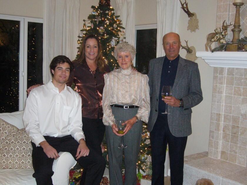From right, Donald Lackowski, his partner Kay Hathaway, daughter Elizabeth Seyferth and grandson Alex Seyferth.