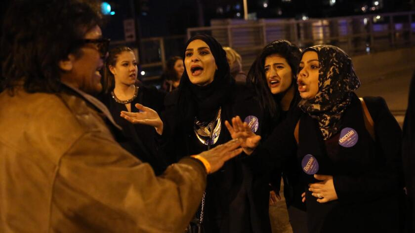 Trump supporters, protesters clash