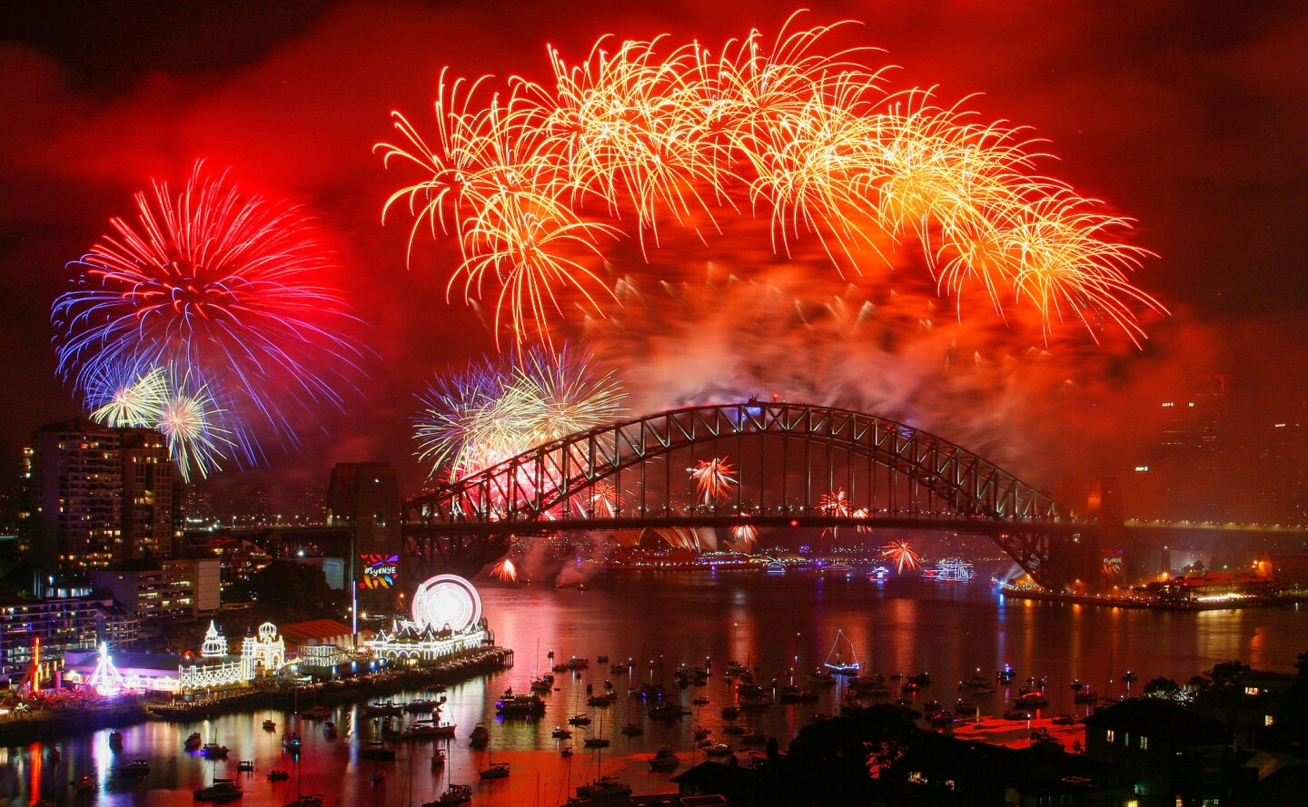 Sydney puts on a spectacular New Year's Eve show with midnight fireworks over Sydney Harbour, pictured here Jan. 1, 2018.