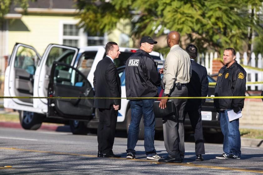 Burbank police investigate scene of officer-involved shooting