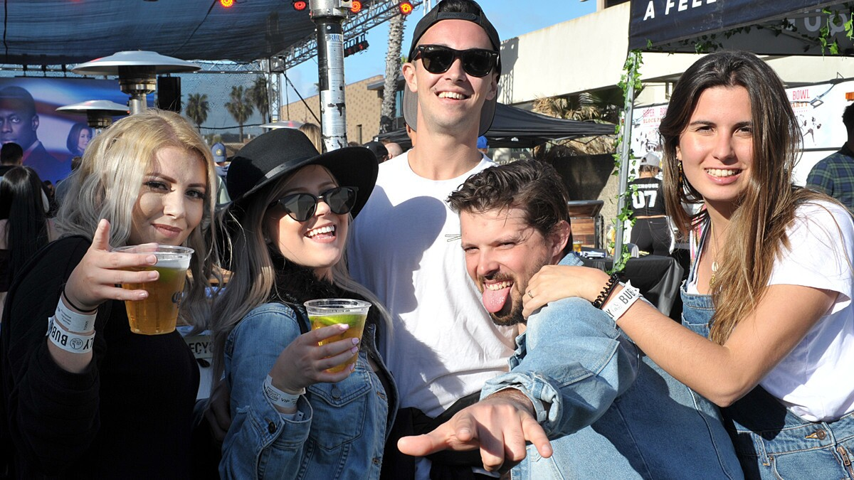 San Diegans turned up to watch the New England Patriots beat the Los Angeles Rams in Super Bowl LIII at Firehouse American Eatery & Lounge in Pacific Beach on Sunday, Feb. 3, 2019.