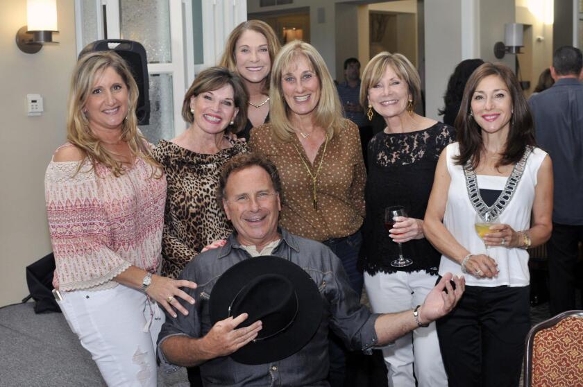 Headliner Russ T. Nailz with Nina Detrow, Dawn Leeds, Margaret Miller, Paula Shelby, Nancy Newquist, Judy Rowles