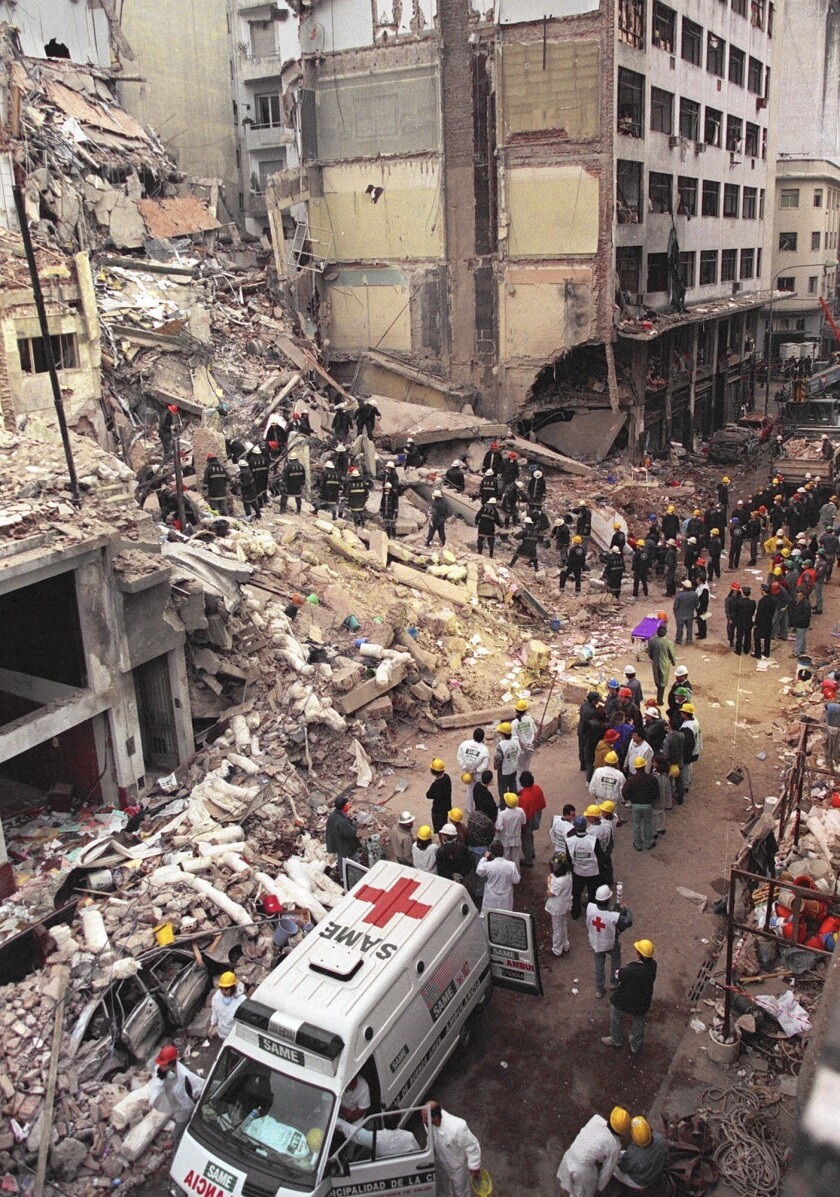 Iran and Hezbollah were accused of the 1994 bombing of a Jewish community center in Buenos Aires.