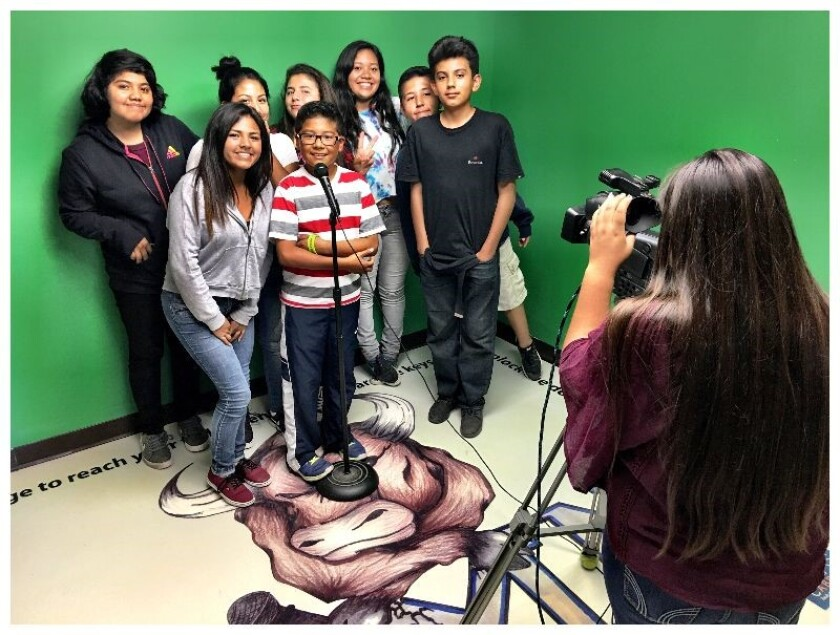 Rancho Minerva Middle School in the Vista Unified School District has won the Achieve Award from the Classroom of the Future Foundation for its Video Production and Digital Storytelling program.