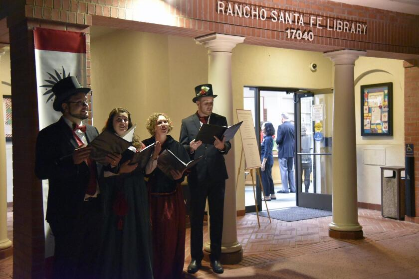 Carolers greeted the guests