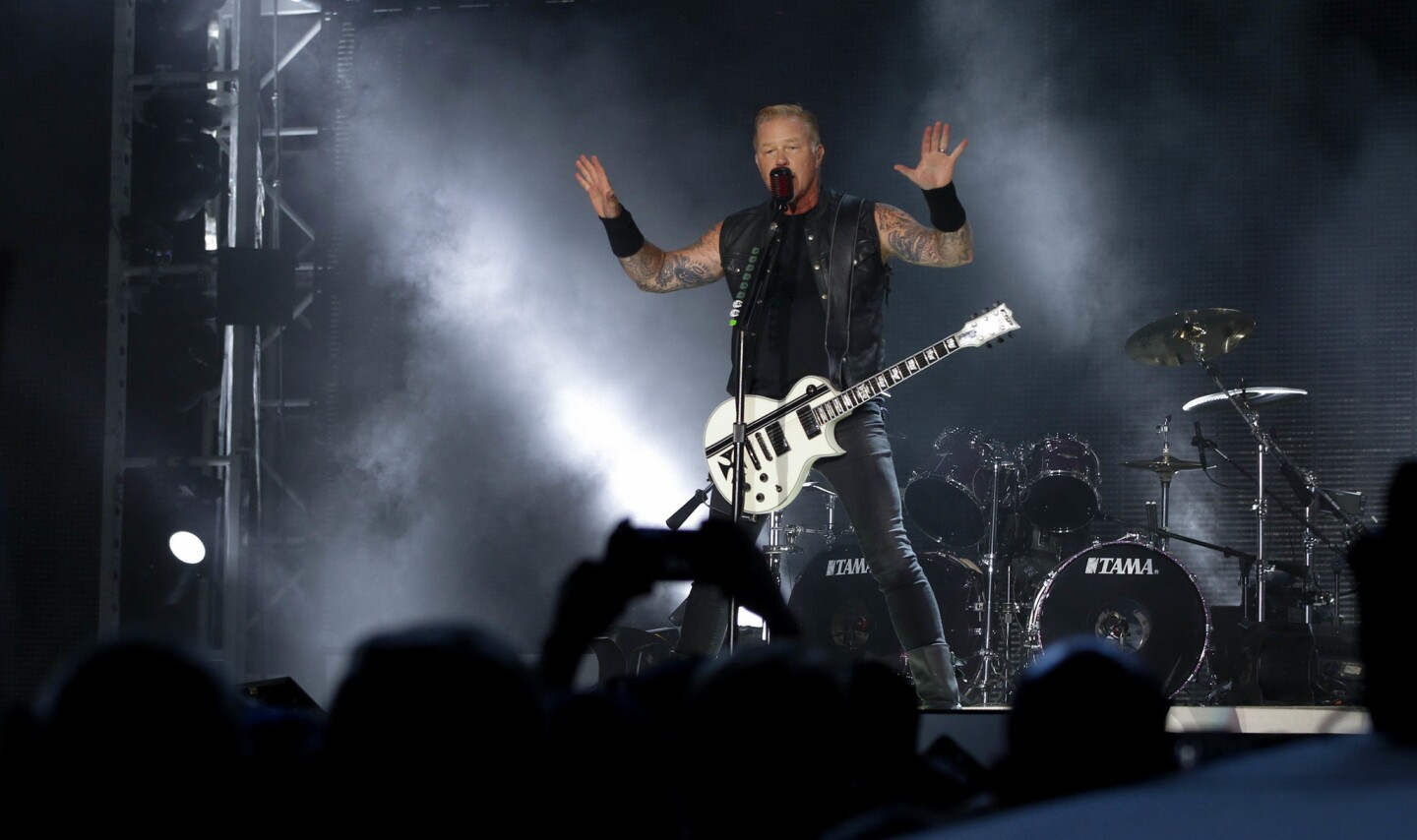 Lead singer/guitarist, James Hetfield from Metallica played at Petco Park Sunday night in San Diego.