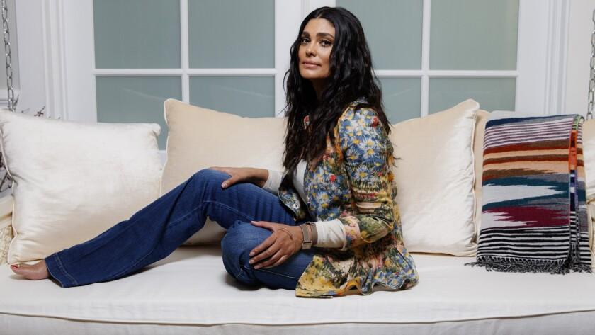 Fashion designer Rachel Roy at home in March.