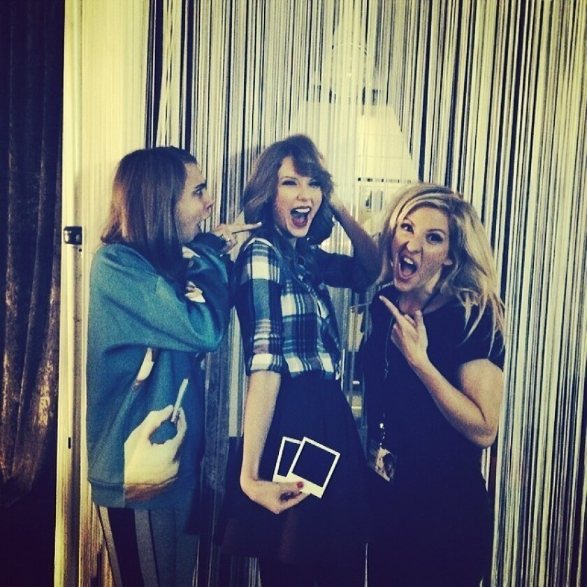 Taylor Swift gets a haircut