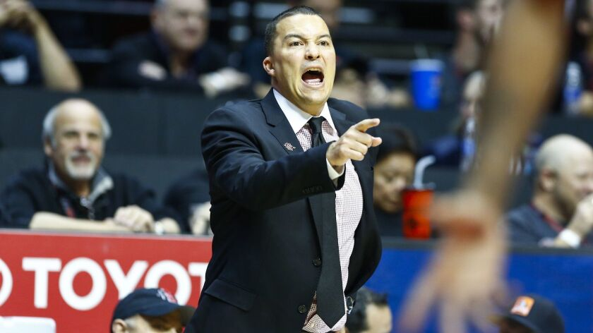 SDSU associate head coach Justin Hutson is set to be hired at Fresno State to replace Rodney Terry.