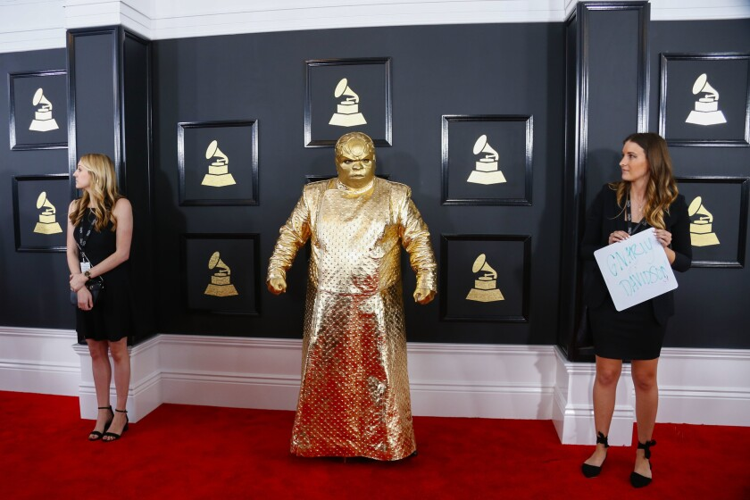 CeeLo Green as alter ego Gnarly Davidson during the arrivals at the 59th Annual Grammy Awards.