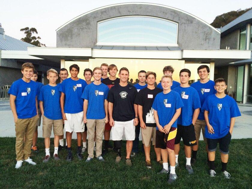 TVIA teens with veteran Eric McElvenny, their guest speaker.