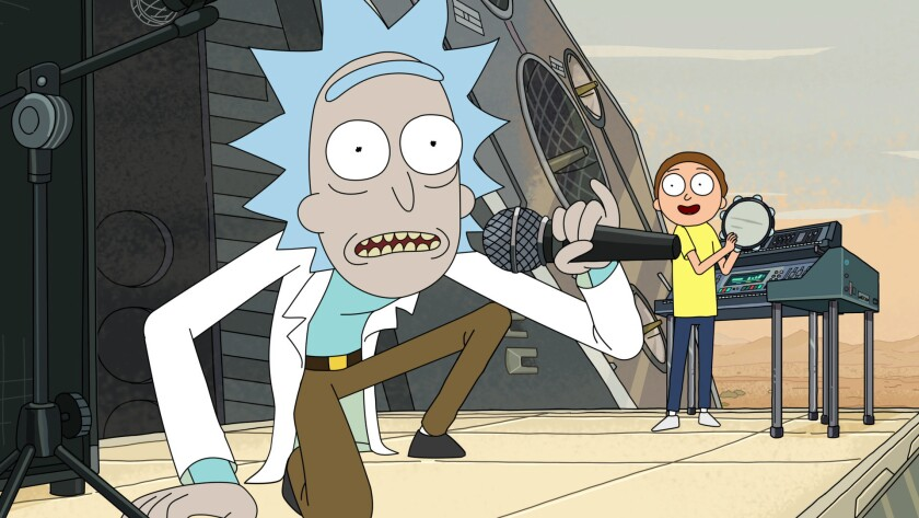 (L-R) - Morty and Rick head out to investigate the recent threat to the Earth, promising Beth, Jerry