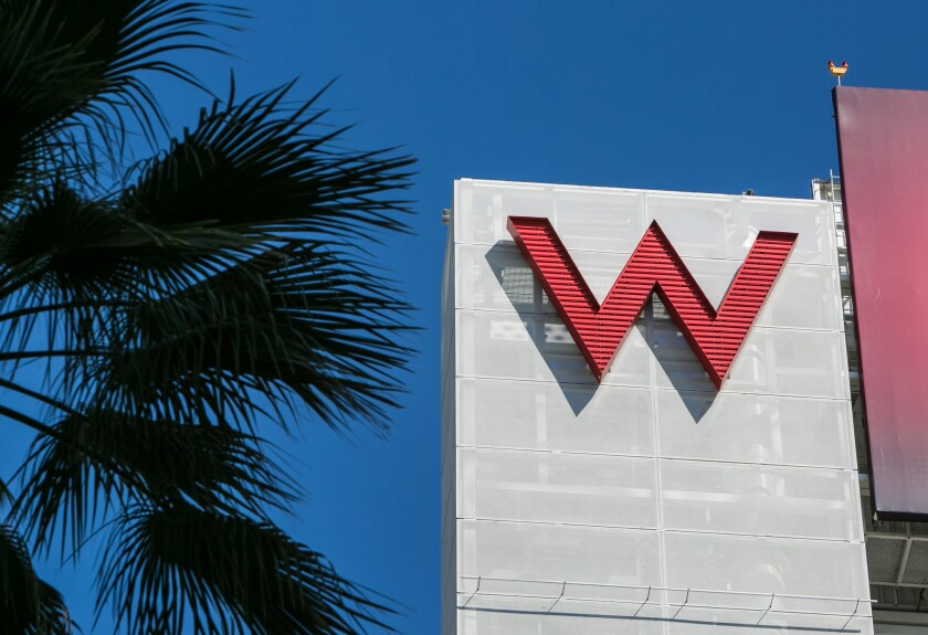 The W Hotel in Hollywood is part of Connecticut-based hotelier Starwood, which has warned of a data breach at dozens of its properties.