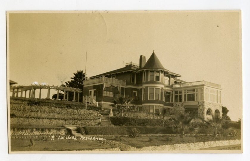 The first iteration of Ellen Browning Scripps' home, South Molton Villa, pictured in 1909, was built in 1897.