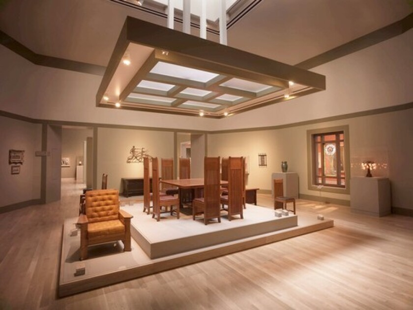 The Huntington Library's early 20th century gallery features works of the Arts and Crafts movement.