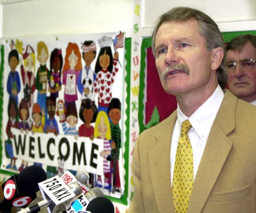 Oregon Gov. John Kitzhaber, whose state has struggled to provide online access to healthcare.