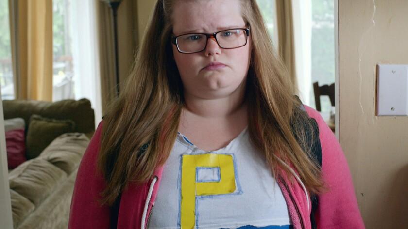 "Michelle McLeod in the movie ""Don't Talk to Irene."""