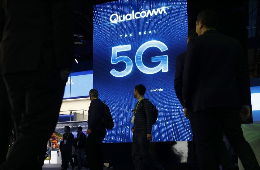 Qualcomm's fiscal first-quarter results got a boost from 5G devices in the pipeline.