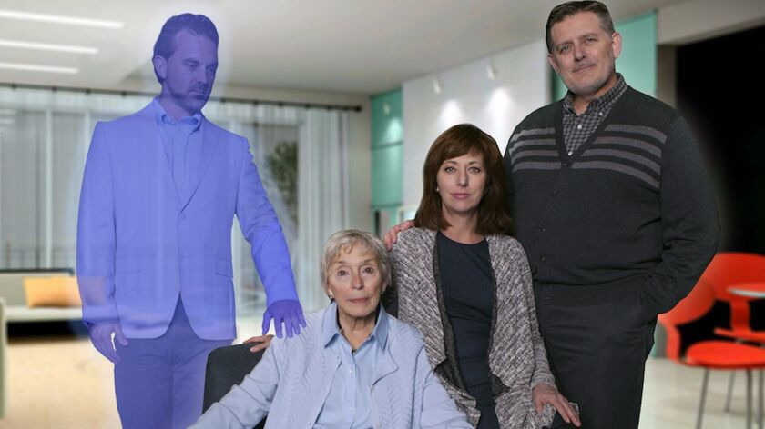 Steve Froehlich, Dee Maaske, Elaine Rivkin and Gregory North star in the San Diego premiere of 'Marjorie Prime' at North Coast Repertory Theatre, now through Feb. 5.
