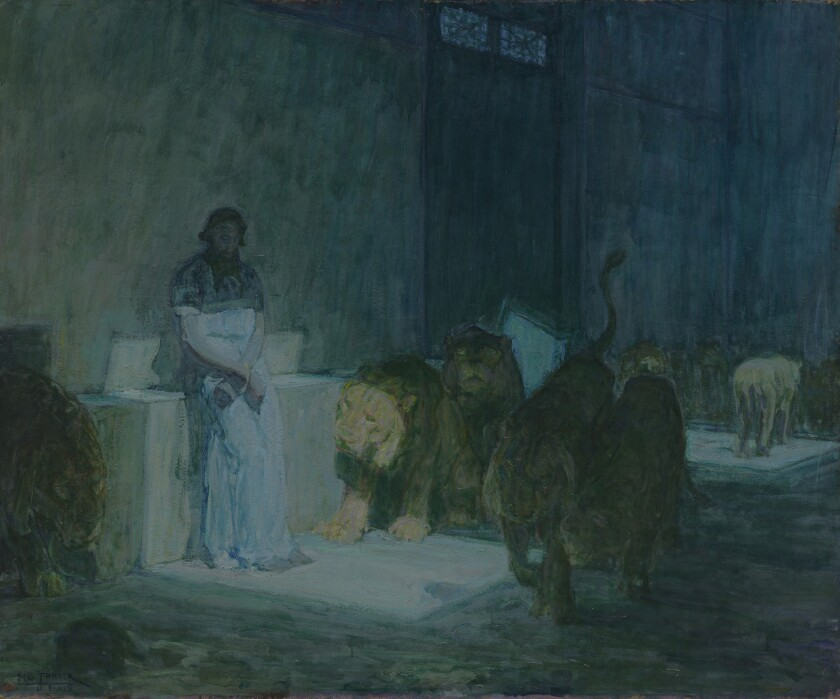 "Henry Ossawa Tanner, ""Daniel in the Lion's Den,"" 1907-18."