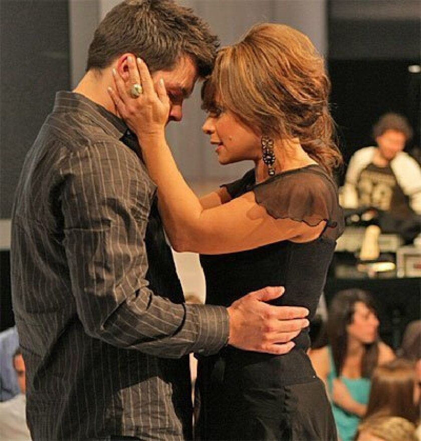 In 2008, Paula Abdul said goodbye to eliminated contestant Jason Yeagar  in her own special way. Who knows what she'll do this year? (Fox)