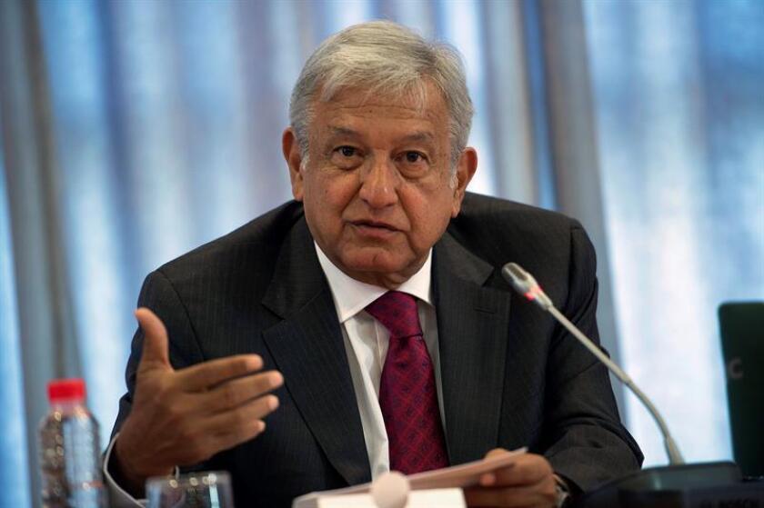El candidato por Morena, Andrés Manuel López Obrador. EFE/Archivo