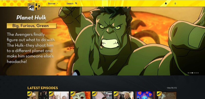 The Hulk is one of the many superheroes bunking at Comic-Con HQ, a new video-on-demand service from Comic-Con International and Lionsgate entertainment.