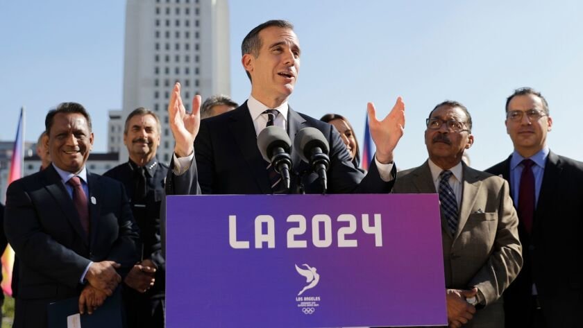 Mayor Eric Garcetti and organizers of the LA 2024 bid might soon have some opposition to bring the Summer Olympic Games to Los Angeles.
