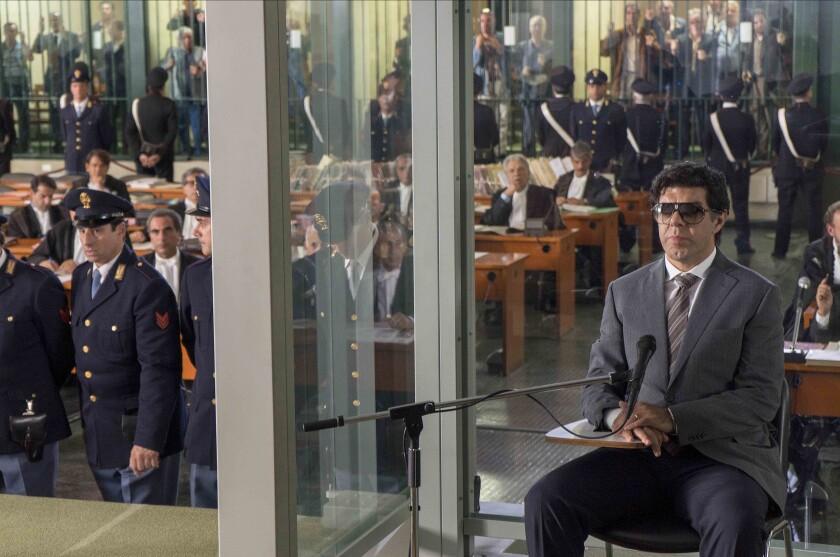"""Pierfrancesco Favino (right) in a scene from """"The Traitor."""""""