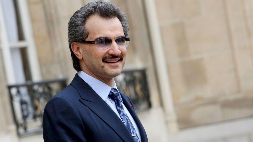 Prince Alwaleed Bin Talal Bin Abdulaziz Al Saud from Saudi Arabia among arrested in anti-corruption inquiry, Paris, France - 16 Jul 2008