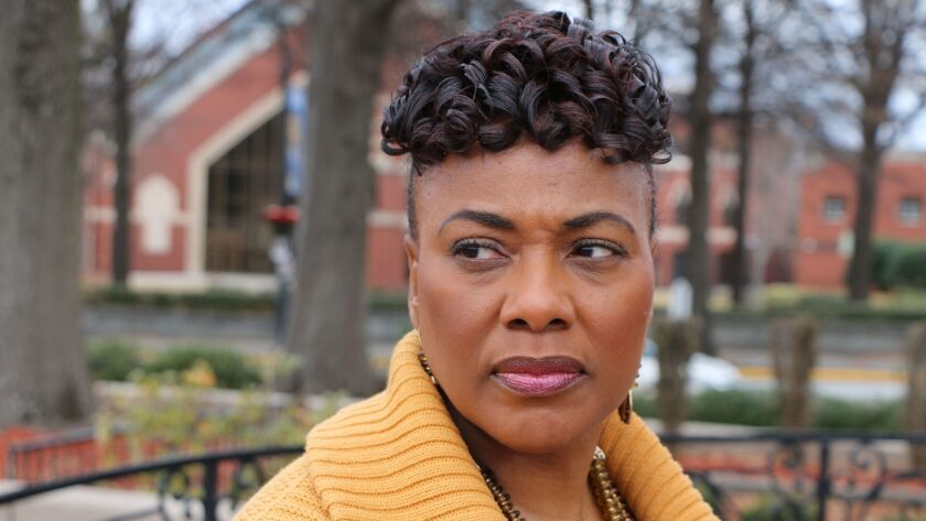 Bernice King, the daughter of the Rev. Martin Luther King, Jr., is seen outside of The Martin Luther