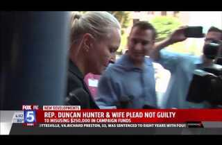 Duncan Hunter arraigned at federal court