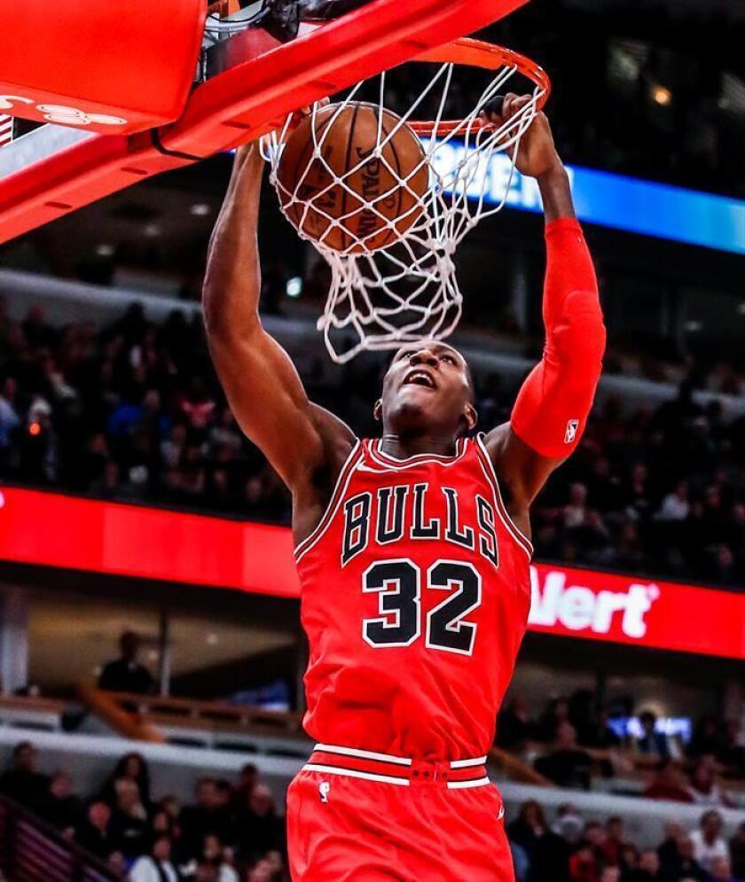 En la imagen, el jugador Kris Dunn de los Chicago Bulls. EFE/Archivo