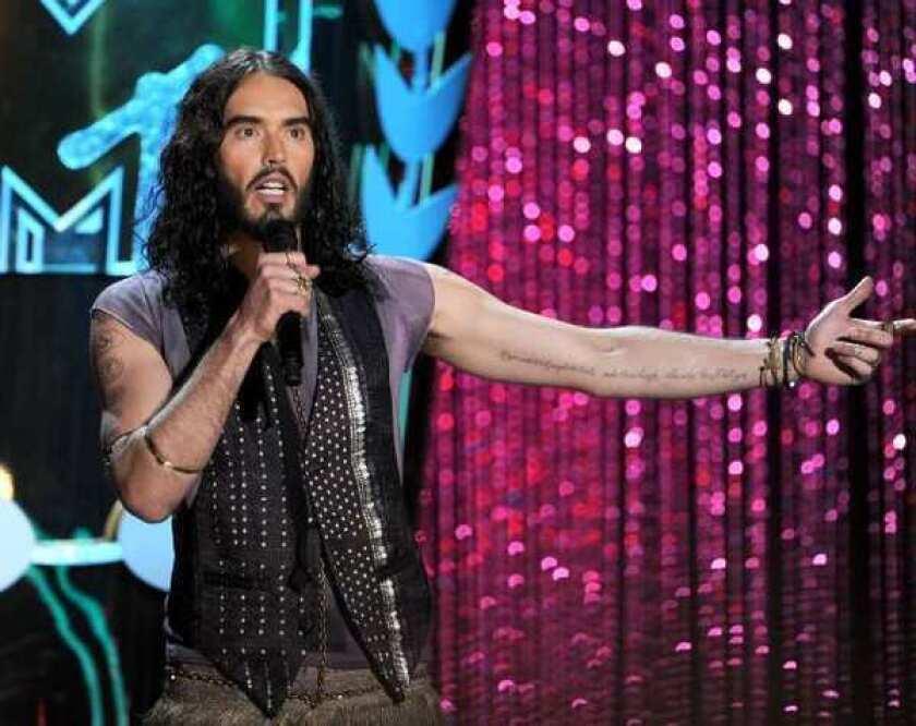 "Russell Brand hosts the 2012 ""MTV Movie Awards."""