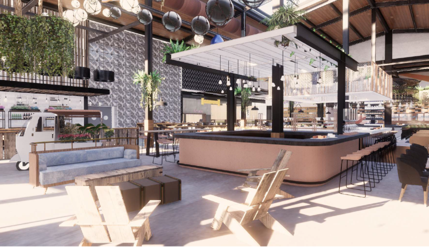 In the Del Mar Highlands Town Center's new Sky Deck, opening in 2020, 10 restaurants will surround a central bar.