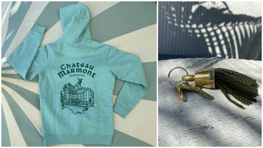 Items from the Chateau Marmont online gift shop