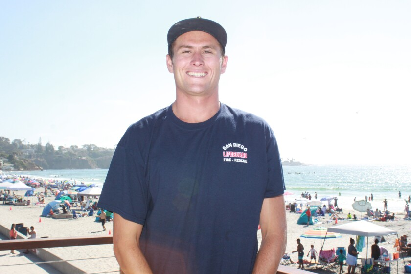 Tristan Sullaway earned the Seasonal Lifeguard of the Year award from the San Diego Lifesaving Association.