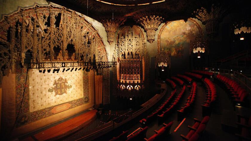 The reborn United Artists Theatre, built in 1927, is the lavish centerpiece of the new Ace Hotel in downtown Los Angeles.