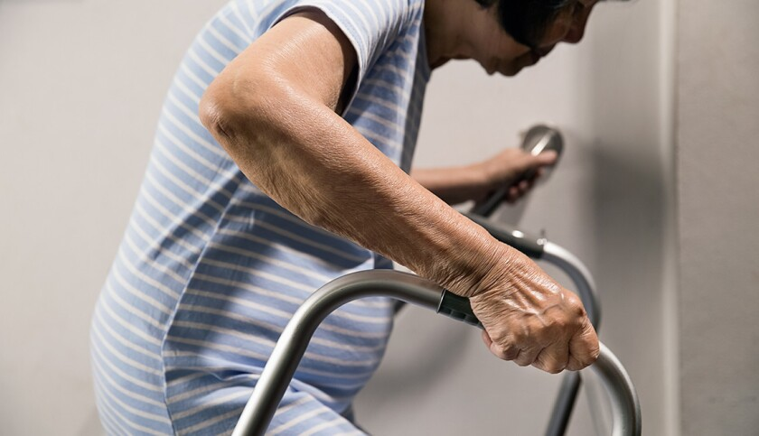 Recent report showed that for those 65 and older, falls are the No. 1 cause of injury, and death from injury.